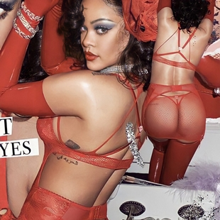 Rihanna's Ass In Tiny Thongs Selling Valentine's Lingerie