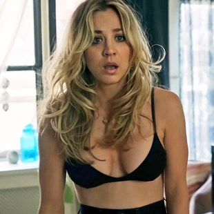 """Kaley Cuoco In Her Bra And Panties For """"The Flight Attendant"""""""
