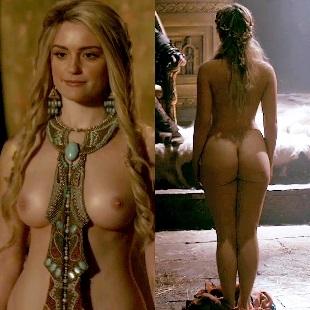 "Alicia Agneson Nude Scene From ""Vikings"""