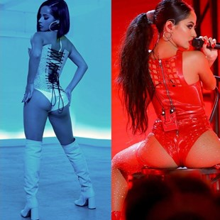 Becky G's Corsets And Ass Cheeks