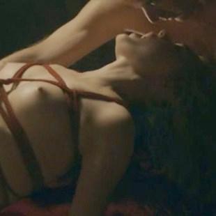 "Bella Heathcote Nude Bondage Orgasms From ""Strange Angel"""
