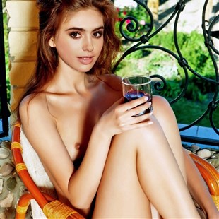 Lily Collins Nude Photo Shoot