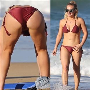 Hilary Duff's Strong Ass Bikini Beach Pics