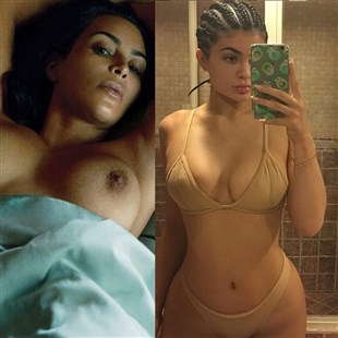 Kim Kardashian Nude, Kylie Jenner Bikini Selfie
