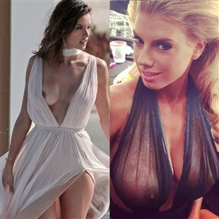 Alessandra Ambrosio And Charlotte McKinney Show Off Their Nipples
