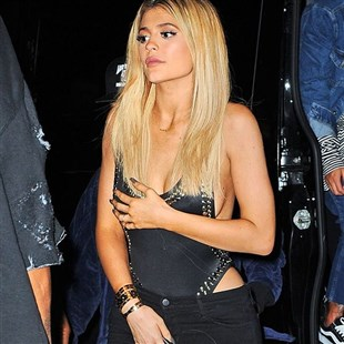 Kylie Jenner Fishnet Panties And Side Boob Pics