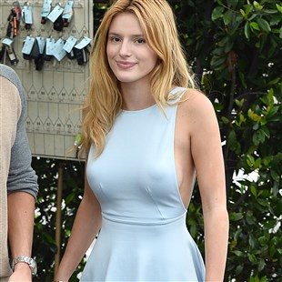 Bella Thorne Takes Her Puffy Nipples Out On A Date