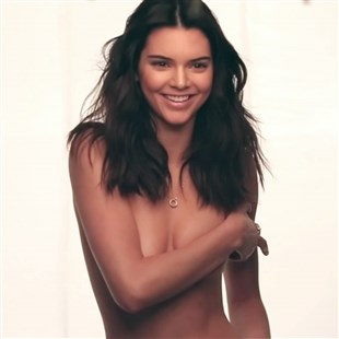 Kendall Jenner Covered Topless Behind The Scenes Photos