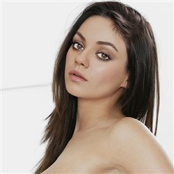 Mila Kunis Laying On Her Bed Naked
