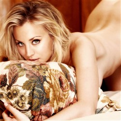 Kaley Cuoco Naked On All Fours