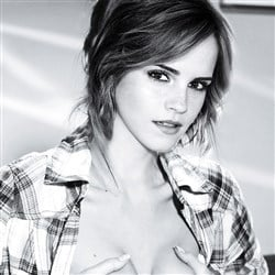 Emma Watson Squeezes Her Boobs In A B&W Photo