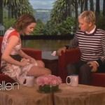 Emma Watson Shows Ellen Her Crotch