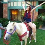 Ariana Grande Grinds Her Privates Into A Horse