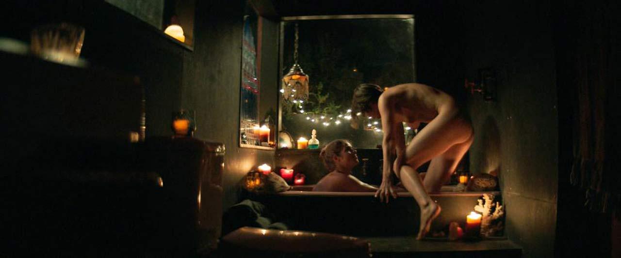 Jana Winternitz & Emily Bett Rickards Naked Lesbian Scene from 'Funny Story'