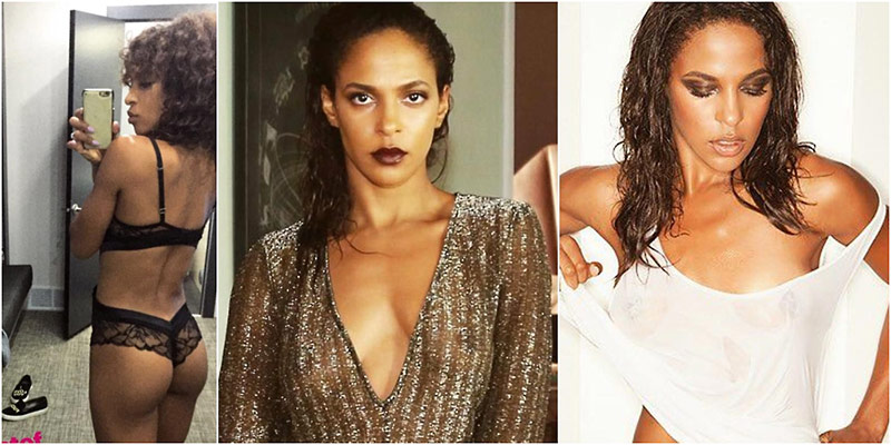 Megalyn Echikunwoke Sexy – See Through Dress and Lingerie Pic !