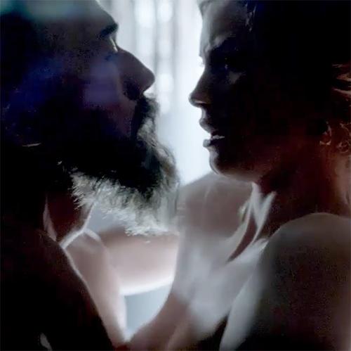 Alyssa Sutherland Sex Scene from 'Vikings'