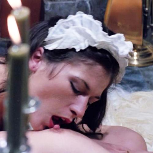 Cathy Stewart & Karine Gambier Lesbian Scene in 'Die Nichten der Frau berst'