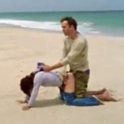 Brunette Forced Sex Scene At The Beach in 'Lost Things' Movie
