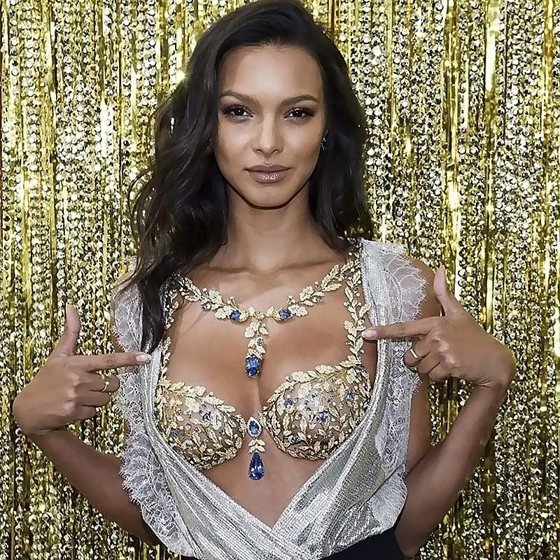 VS Angel Lais Ribeiro Wears $2 Million Champagne Nights Fantasy Bra!