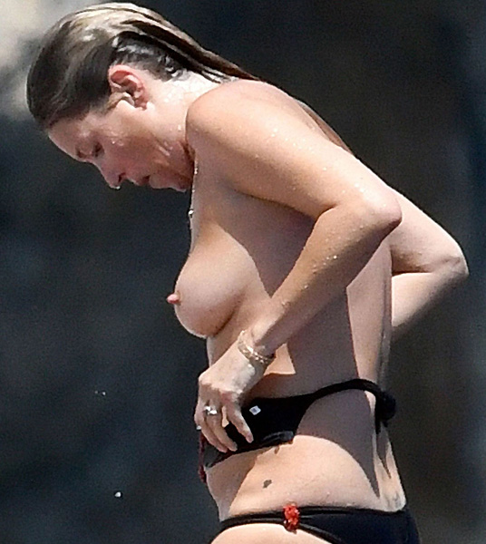 Kate Moss Topless On The Yacht
