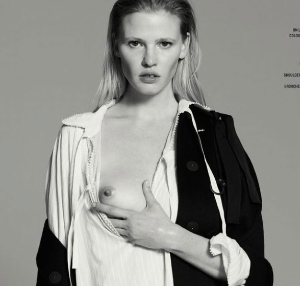 Lara Stone Topless Collection